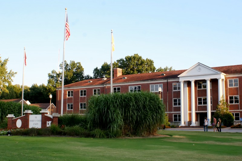 UTM Administration Building on University Street in Martin, TN
